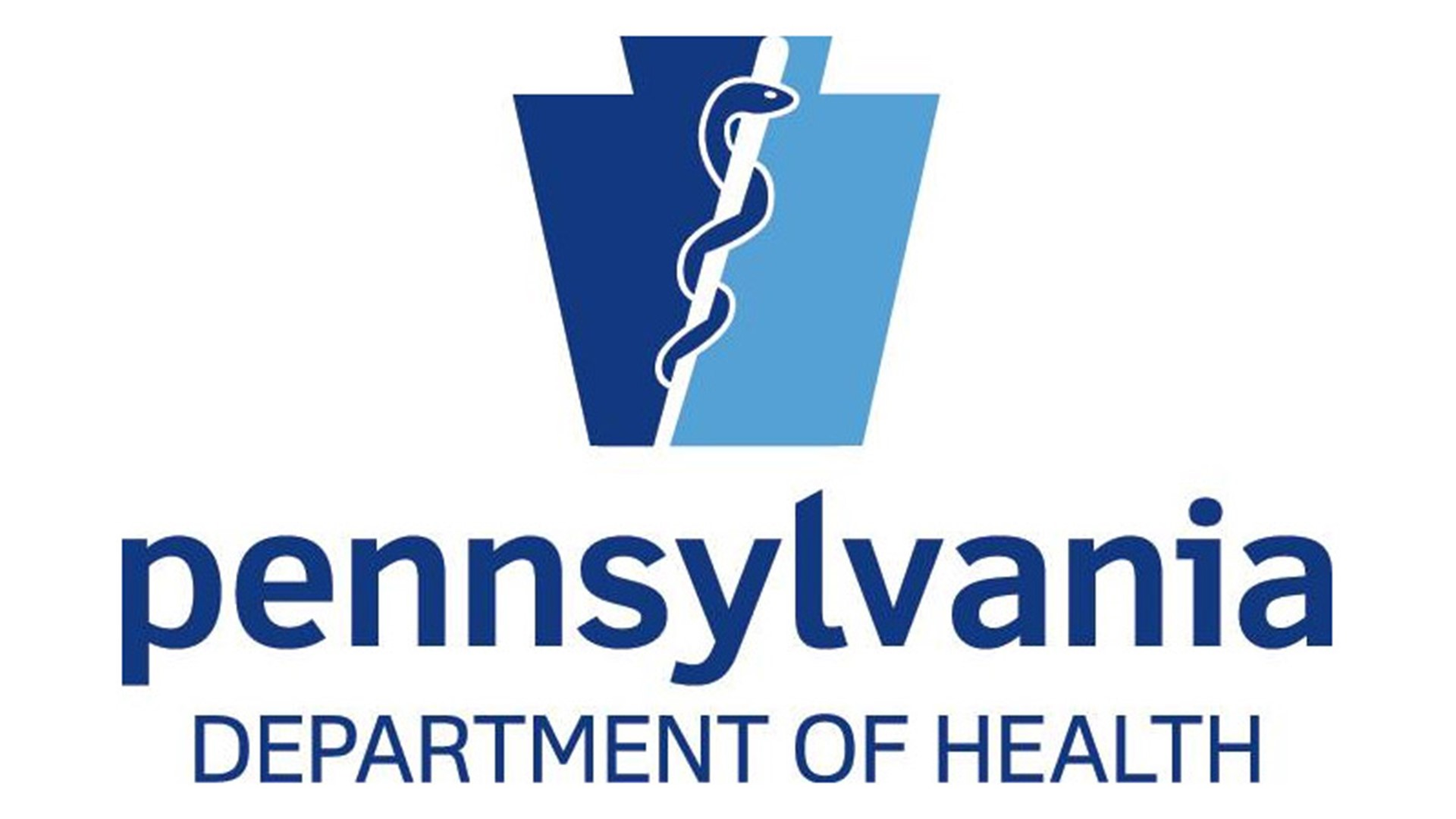 The PA department of Health logo with that text and a keystone image.